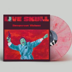 red marbled trasparent vinile live skull